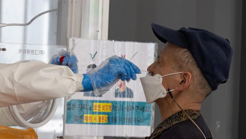 Testy na koronawirusa w Korei Południowej
