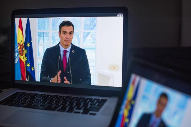 Pedro Sanchez, premier Hiszpanii, ma okazję do świętowania