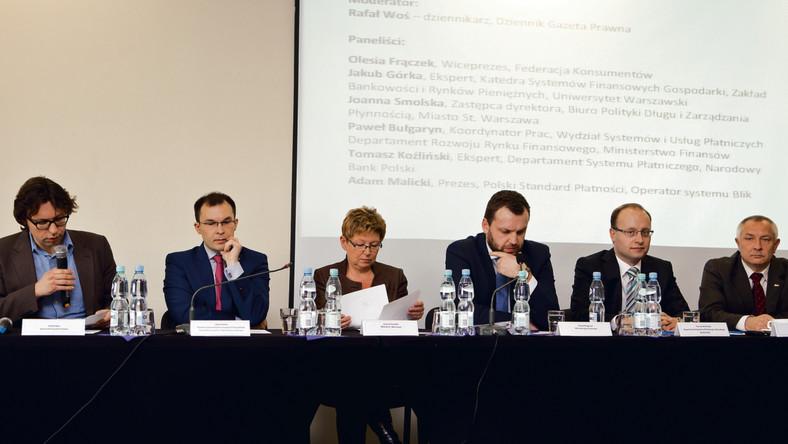Uczestnicy panelu (od lewej): Rafał Woś (prowadzący), dr Jakub Górka, Joanna Smolska, Paweł Bułgaryn, Tomasz Koźliński, Adam Malicki