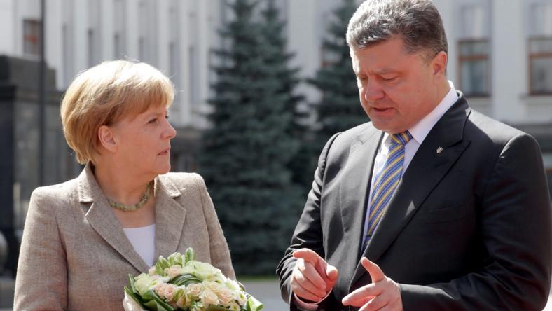 Poroszenko: Merkel potwierdziła poparcie Niemiec dla Ukrainy