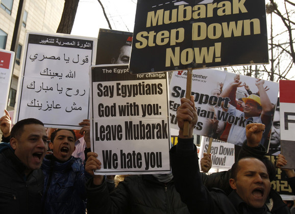 Egipćani koji žive u Južnoj Koreji pružaju podršku svojim sunarodnicima