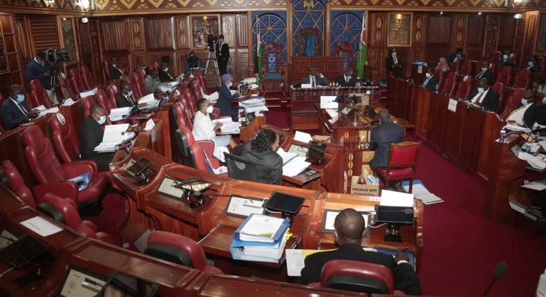 The Kenyan Senate during a recent session