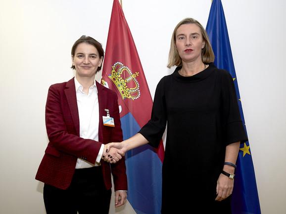 Ana Brnabić i Federika Mogerini