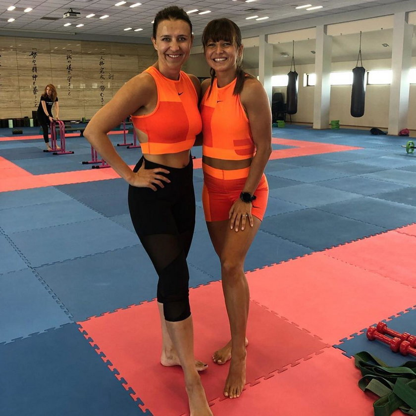 Anna Lewandowska i Milena Lewandowska-Miros