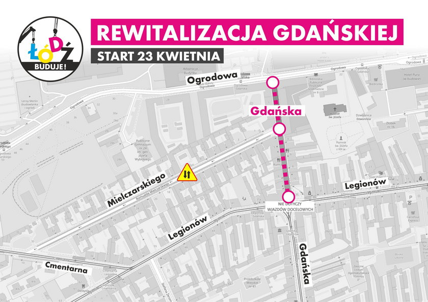 Ulica Gdańska idzie do remontu w ramach rewitalizacji obszarowej