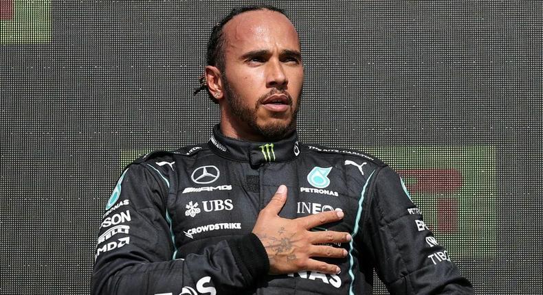 Lewis Hamilton in diversity drive Creator: LARS BARON
