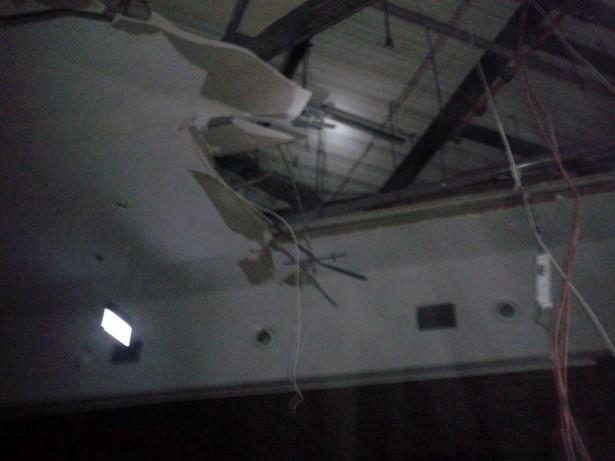 Zawalenie podwieszanego sufitu na terenie centrum handlowego Poznań City Center