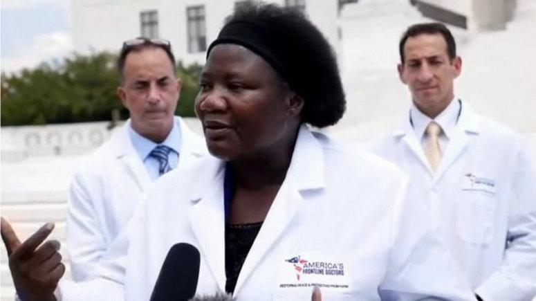Nigerian-trained U.S-based doctor, Stella Immanuel. [BBC]