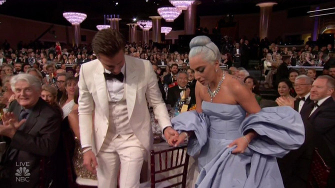 Ledi Gaga i Bredli Kuper na dodeli Zlatnog globusa pre nekoliko meseci u Los Anđelesu: pobedili su u kategoriji najbolje pesme
