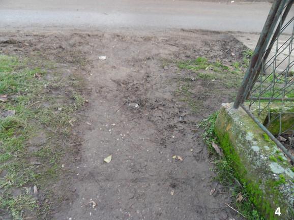Neasfaltirani trotoar u Surčinu