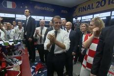 NEVIĐEN SNIMAK Putin posle finala posetio Hrvate, ali kada se u svlačionici Francuza pojavila Kolinda... /VIDEO/
