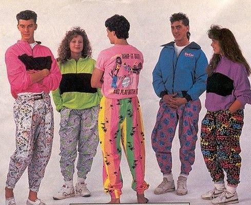 Colour-obsessed 80's fashion. (Find Fashion)