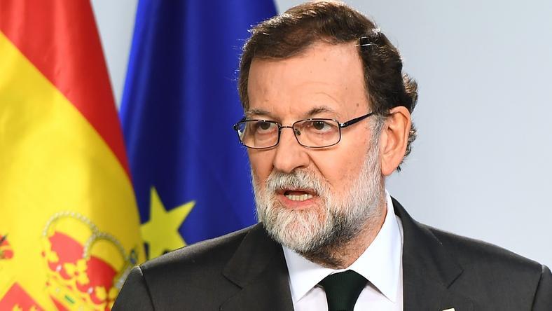 Hiszpański premier Mariano Rajoy zapowiada ostre działania wobec zbuntowanej Katalonii