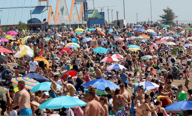 Plaža u Eseksu u Engelskoj (31.jul)