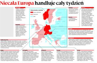 Niecała Europa handluje cały tydzień