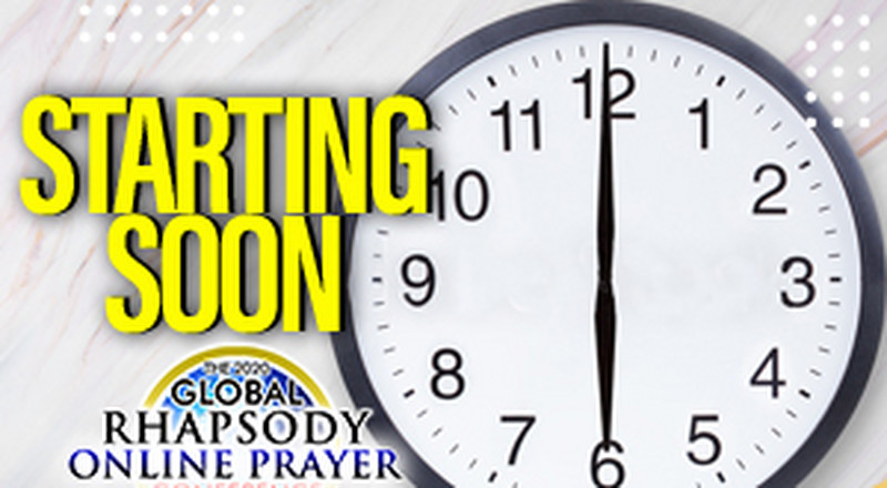 Join the Global Rhapsody Online Prayer Conference, a 24-hour prayer event