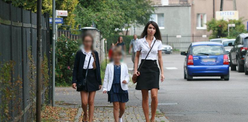 Kaczyńska sama odprowadziła dzieci do szkoły