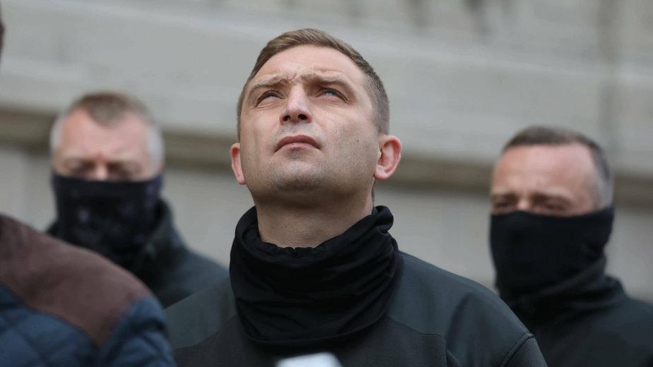 Szef Marszu Niepodległości Robert Bąkiewicz