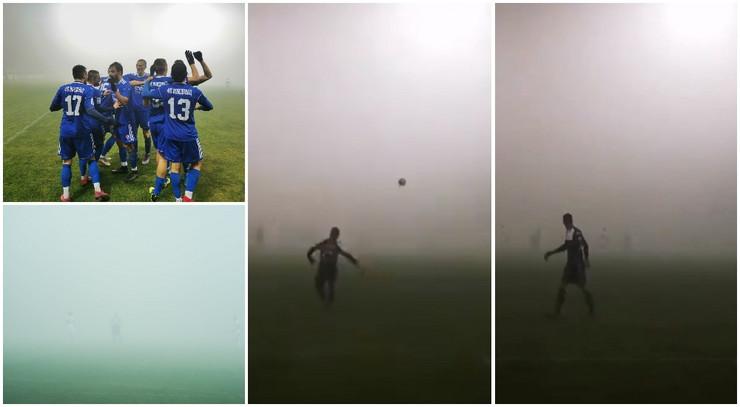 Magla na utakmici Javor - Voždovac