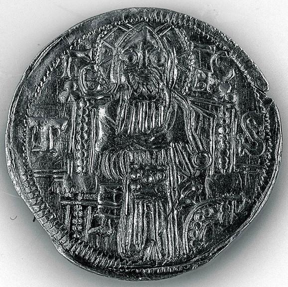 Dinar cara Stefana Dušana (1346–1355)