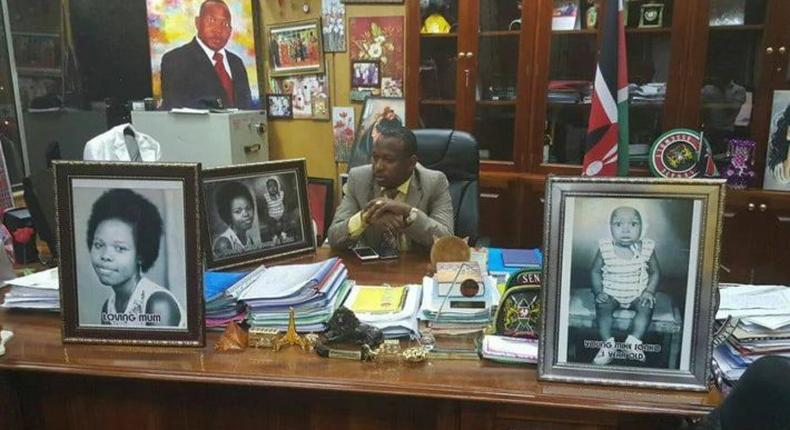 Mike Sonko in his office