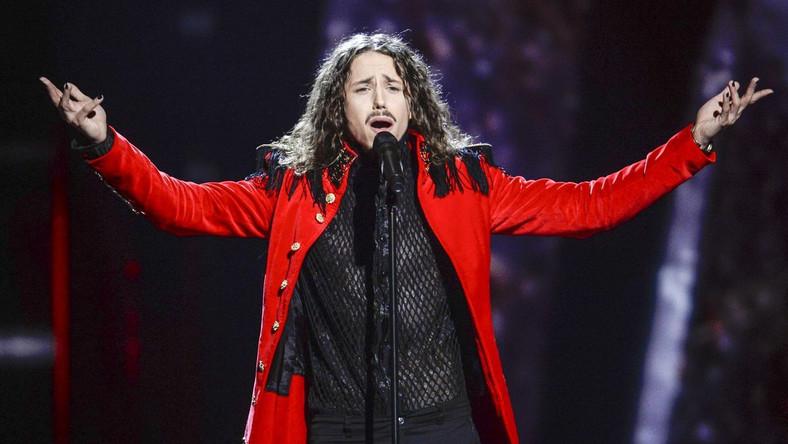 Michał Szpak podczas II pófinału Eurowizji