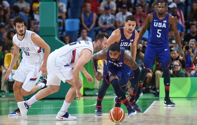 Detalj sa meča Srbija - SAD u finalu Olimpijskih igara u Riju