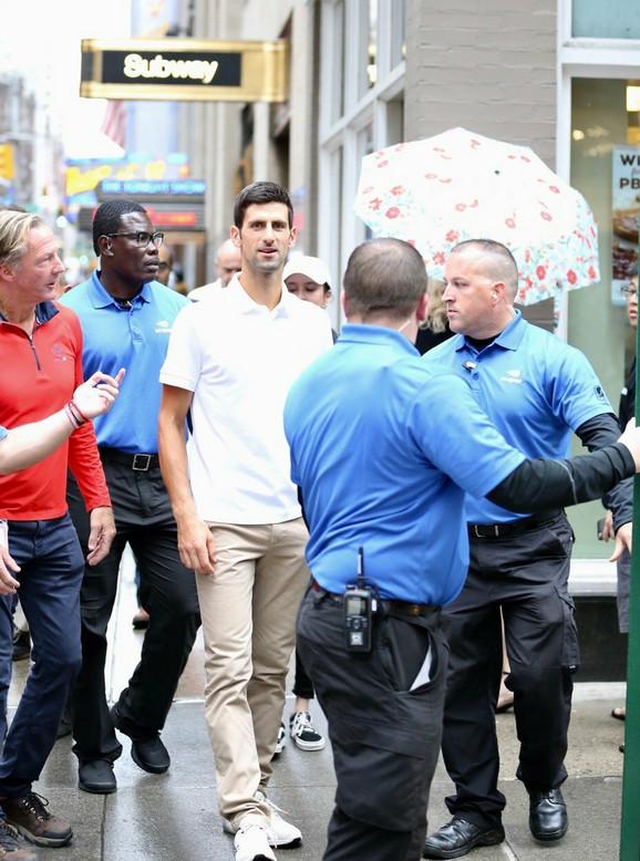 Novak Đoković na njujorškim ulicama