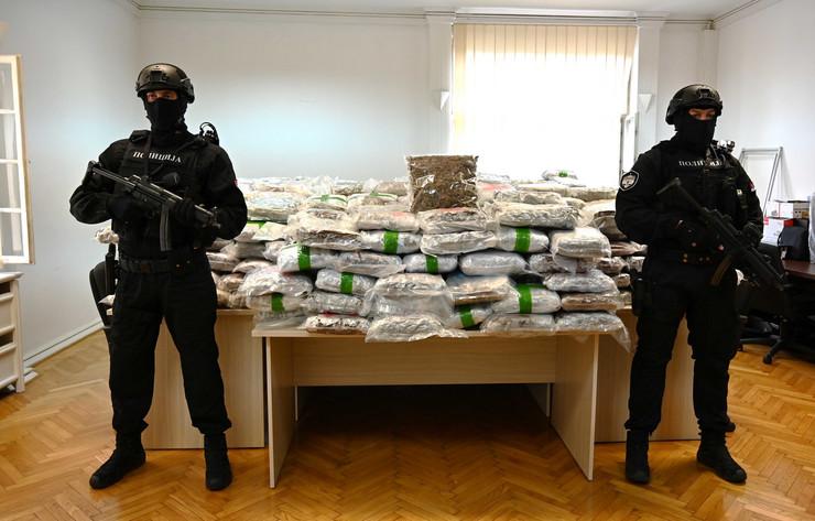Zaplena droge u Aranđelovcu