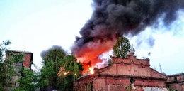 Spłonął zabytkowy budynek w dawnym Unionteksie