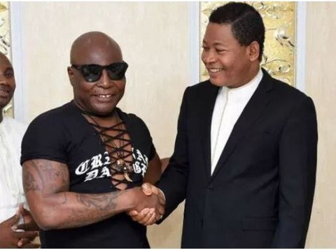 Charly Boy with Pastor Tom