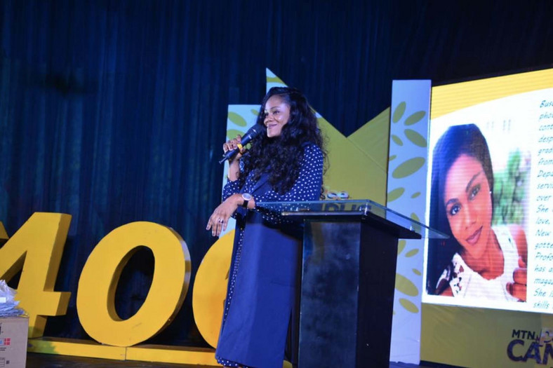 Professional photographer, Busola Dakolo, speaking during the Invasion