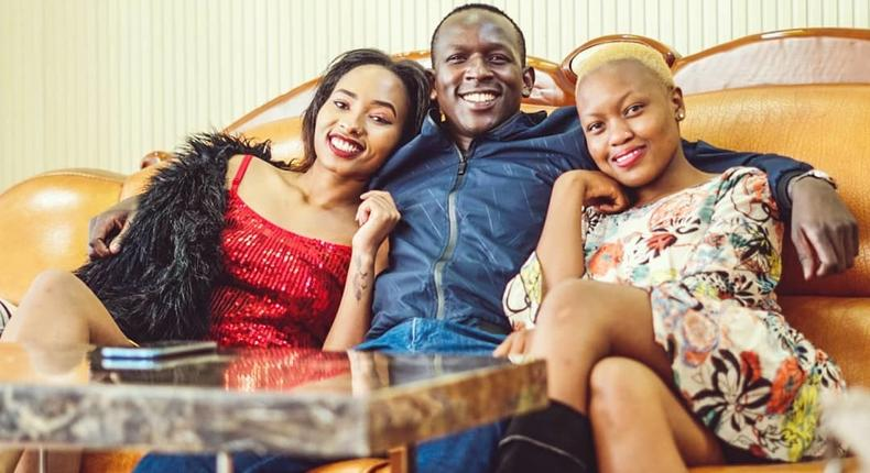 Comedian YY, Angie Chege and Caroline Muthoni. Comedian YY reveals why he vowed never to fall in love again