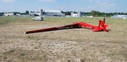 Katastrofa szybowca w Mielcu. Młody pilot walczy o życie