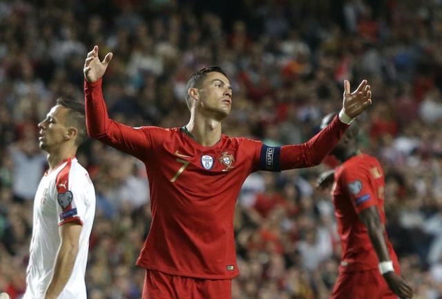 Kristijano Ronaldo na meču Portugal - Srbija