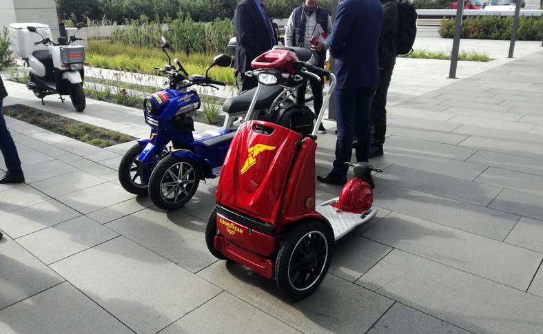 Elektryczny skuter Goodyear ego1 przypomina... kosiarkę