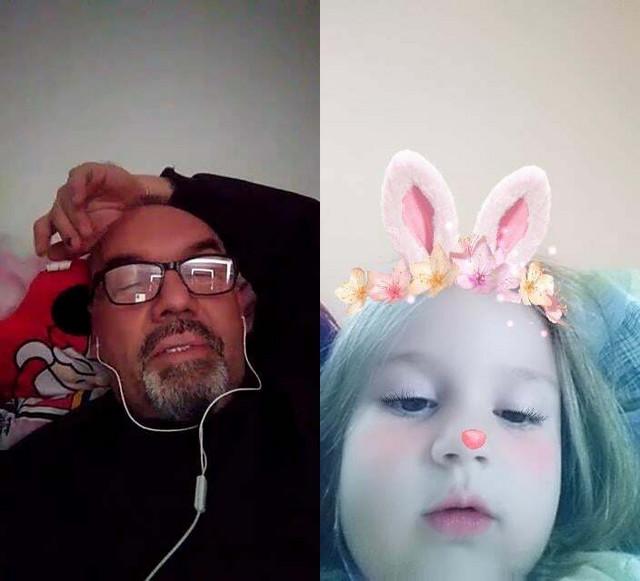 Tata i ćerkica - preko skajpa