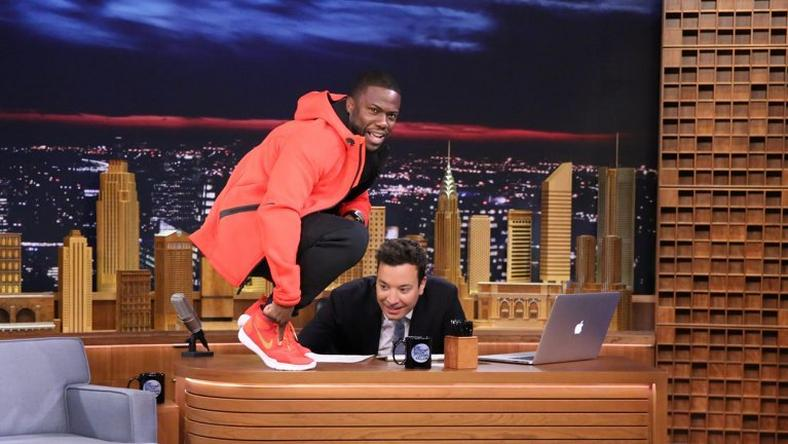 Kevin Hart Actor And Comedian Announces Custom Sneakers On Jimmy