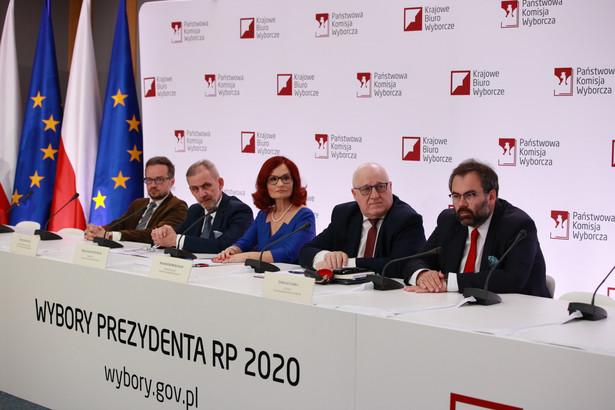 PKW. Wybory prezydenckie. Sylwester Marciniak, Magdalena Pietrzak, Wojciech Sych, Maciej Miłosz, Liwiusz Laska