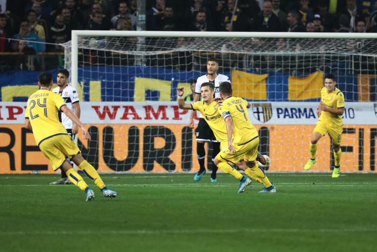 Darko Lazovića na meču Parma - Verona
