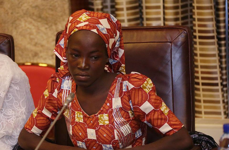 Amina Ali Nkeki was found by a Civilian Joint Task Force (CJTF) patrol group in May 2016 along with her 4-month-old child named Safiya and a Boko Haram member, Mohammed Hayatu, who described himself as her husband [Presidency]