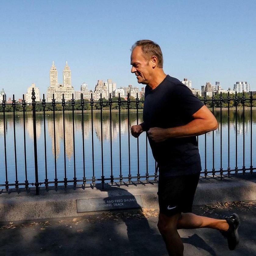 Donald Tusk wybrał się na światową przebieżkę w Nowym Jorku. Zajmie się sportem na poważnie?
