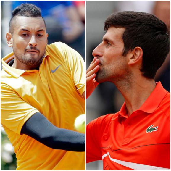 Nik Kirjos i Novak Đoković