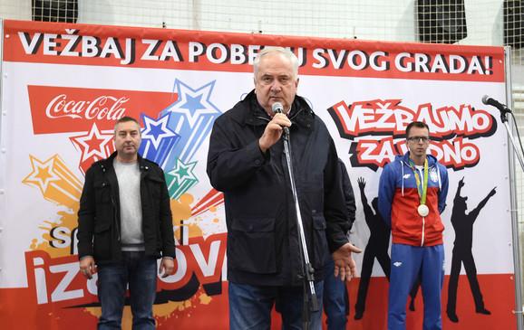 Božidar Maljković, predsednik OKS-a, na zatvaranju Sportskog izazova