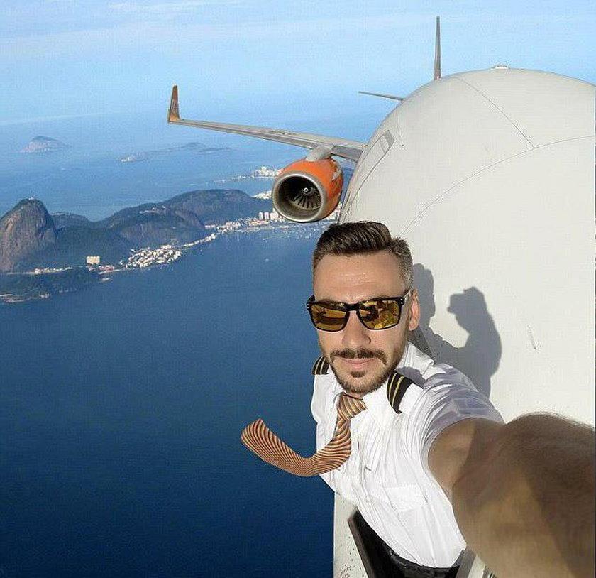 Ten pilot robi selfie na wysokości. Hit czy kit?