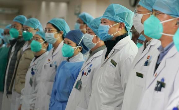 Osoblje bolnice u Vuhanu