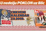 """Crkveni kalendar na poklon uz """"Blic"""""""