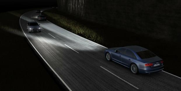 Matrix LED - sposób działania w Audi A8