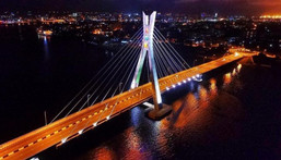 There's never a dull moment in Lagos. Ikoyi link Bridge.
