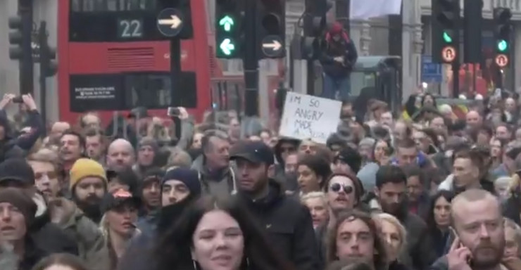 London, protest